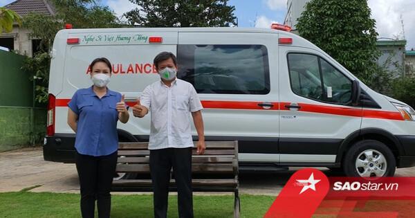 Nói là làm, Việt Hương chính thức tặng xe cứu thương gần 2 tỷ đồng làm từ thiện